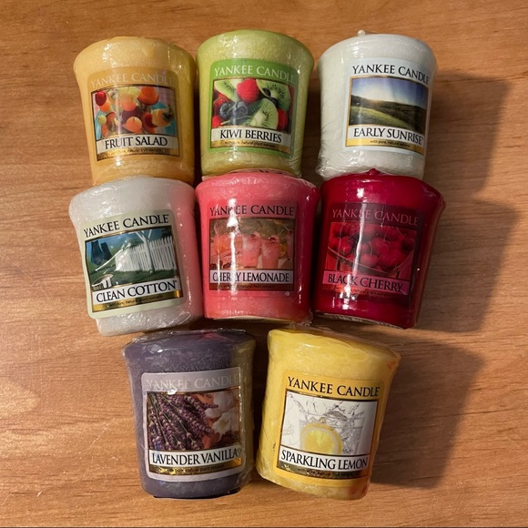 8 Vintage Yankee Candle Votive Candles New Wrapped